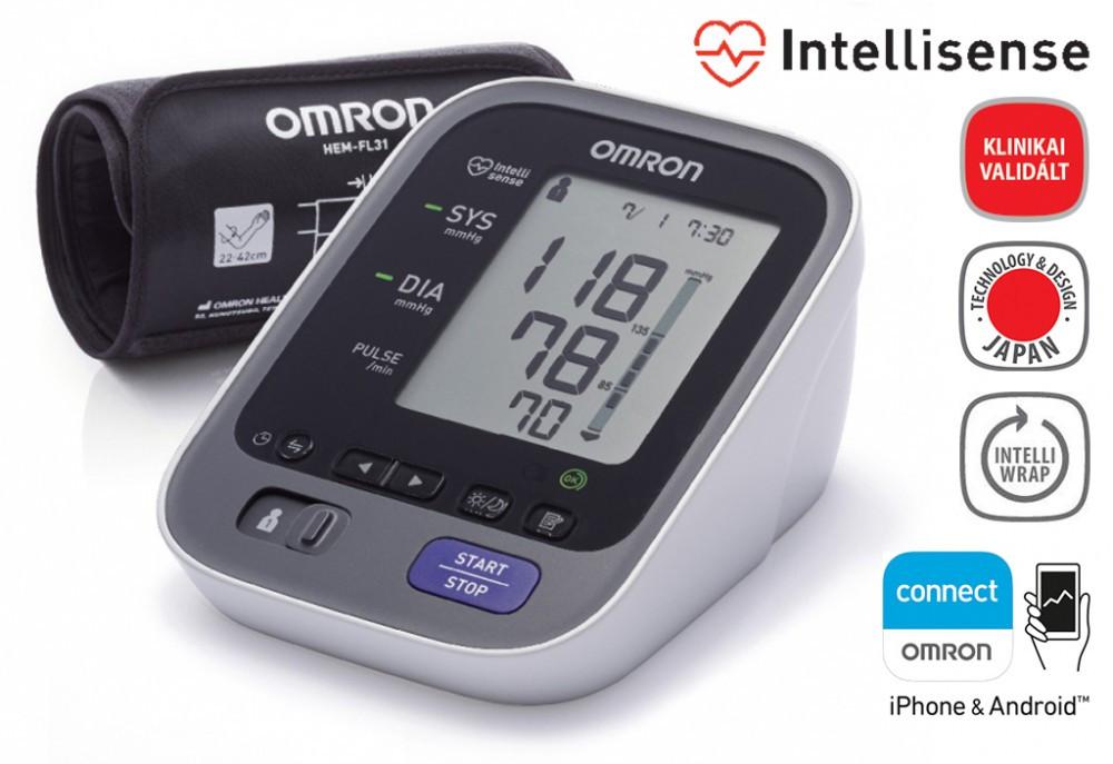 OMRON M7 Intelli IT felkaros okos-vérnyomásmérő Bluetooth..